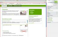 Interface d'administration du CMS Automne